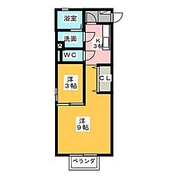 サニーコート丸領B[1階]の間取り
