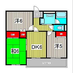須賀第1ハイツ[2階]の間取り