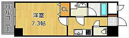 U.BASIC LEAF三萩野[5階]の間取り