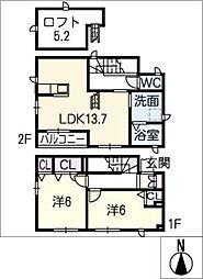[タウンハウス] 愛知県名古屋市北区東水切町1丁目 の賃貸【/】の間取り