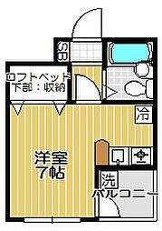 ファインコート旗の台[2階]の間取り