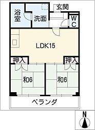 メゾン白菊[2階]の間取り