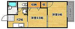 兵庫県神戸市兵庫区須佐野通3丁目の賃貸アパートの間取り