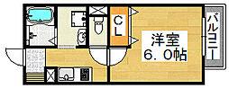 ルミエール中向陽[1階]の間取り