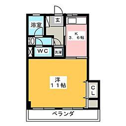 足立マンション[3階]の間取り
