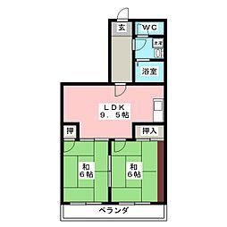 メゾンNAWA[4階]の間取り