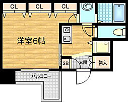 アクアプレイス東天満[2階]の間取り