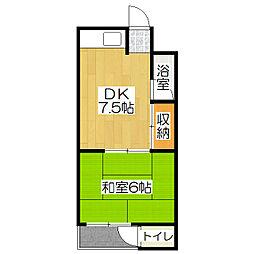 中島町マンション[306号室]の間取り