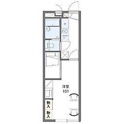 レオパレスパークハイムNS202[2階号室]の間取り