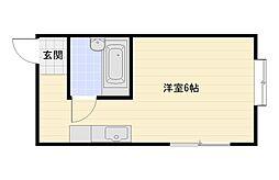 大阪府大阪市平野区背戸口3丁目の賃貸マンションの間取り