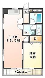 ファミールオザキ[2階]の間取り