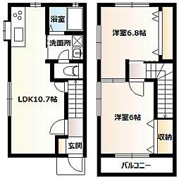 [テラスハウス] 神奈川県相模原市南区南台3丁目 の賃貸【/】の間取り