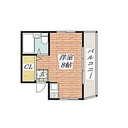 レインボーハイム[3階]の間取り