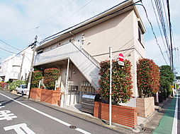 東京都目黒区中根1丁目の賃貸アパートの外観