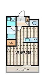 スターダスト新百合(スターダストシンユリ)[1階]の間取り
