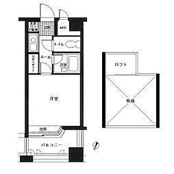 ピュアドーム高宮アーネスト[11階]の間取り