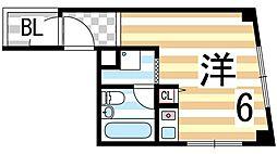 バンハウス[4階]の間取り