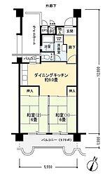 フロール新杉田[1階]の間取り
