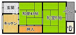 [タウンハウス] 大阪府大阪市平野区喜連4丁目 の賃貸【/】の間取り