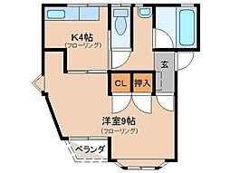 ハイムミヤザキ[3階]の間取り
