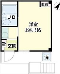 神奈川県横浜市中区本牧緑ケ丘の賃貸マンションの間取り