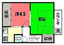 浄南荘[C号室]の間取り