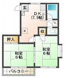 メゾン・ホークロードA[2階]の間取り