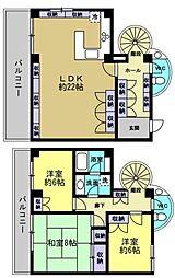 ルーエ大和田[2階]の間取り