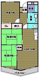日吉マンション[1階]の間取り