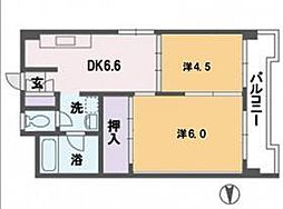 杉の宮マンション[5階]の間取り