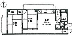 メゾンINAKO1[203号室]の間取り