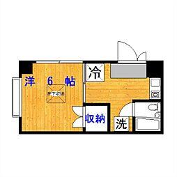 コート駒沢公園[202号室]の間取り