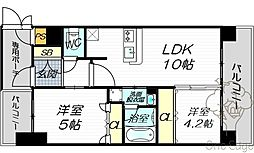 エステムコート梅田天神橋IIグラシオ[4階]の間取り
