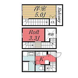 [タウンハウス] 千葉県千葉市中央区末広3丁目 の賃貸【/】の間取り