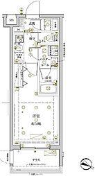 東急東横線 学芸大学駅 徒歩9分の賃貸マンション 1階1Kの間取り