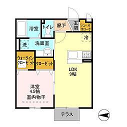 埼玉県三郷市中央3丁目の賃貸アパートの間取り