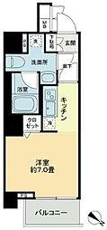 KDA SHINAGAWA OSAKI 3階1Kの間取り