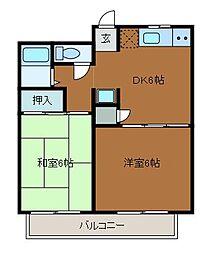 プリムローズ[3階]の間取り