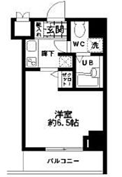 東京都中央区東日本橋3丁目の賃貸マンションの間取り