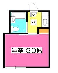 東京都小平市天神町2丁目の賃貸アパートの間取り