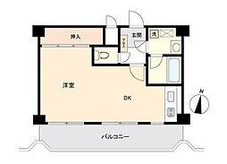 神奈川県横浜市中区根岸旭台の賃貸マンションの間取り