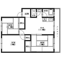 米尾マンション(YK)[2階]の間取り