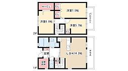 [テラスハウス] 愛知県日進市香久山5丁目 の賃貸【/】の間取り