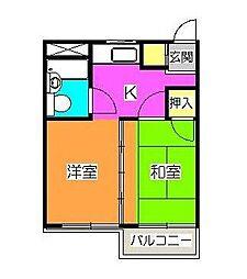 コーワ3[305号室]の間取り