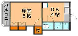 エスポアールマンション[3階]の間取り