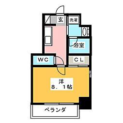 レジデンシア花の木[2階]の間取り