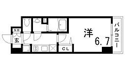 JR東海道・山陽本線 兵庫駅 徒歩4分の賃貸マンション 3階1Kの間取り