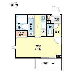 西武池袋線 椎名町駅 徒歩5分の賃貸マンション 3階1Kの間取り