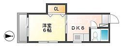 ハウス虹[2階]の間取り