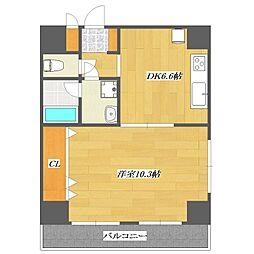 RivereNAGAI(リヴェールナガイ)[2階]の間取り